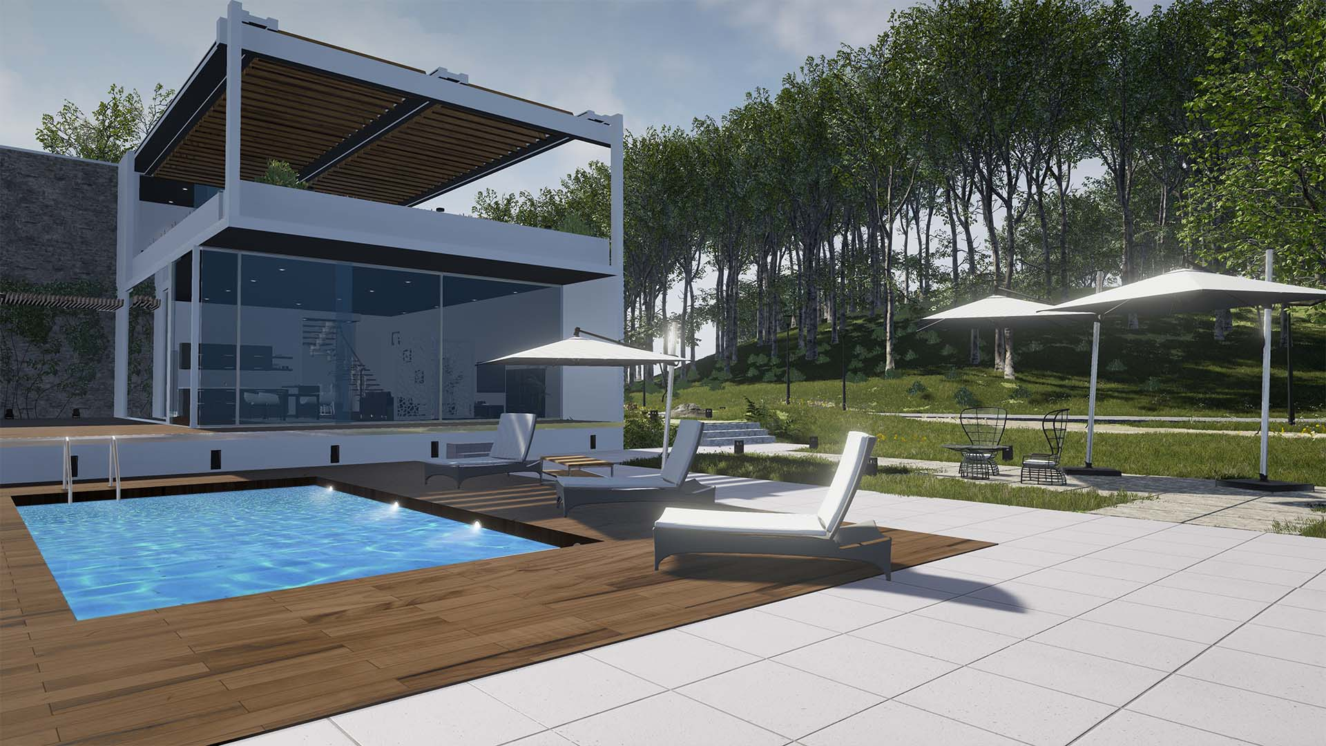 Real Time 3D Rendering external Architectural Visualisation n3